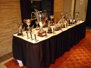 Awards on display